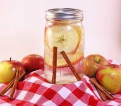 Apple Cinnamon Water  This Apple Cinnamon Water recipe has helped 1000′s of people lose weight! Check out the PROOF and find out how Lose Weight By Eating lose over 1000 pounds per month here.  Makes 2 liters, re-fill water 3-4 times before replacing apples and cinnamon.  Ingredients:  - 1 Apple thinly sliced, I like Fuji but pick your favorite - 1 Cinnamon Stick  Nutrition information:  Each serving (approximately 1 glass) has:  Calories: 0 Fat: 0 Fiber: 0 Protein: 0 Carbs: 0