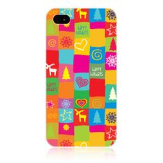 e_cell Head Case Quild Hippie Xmas Design Hard Back Case Cover for Apple iphone 4S