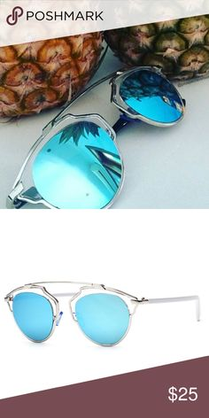 Ibiza Sunglasses Blue NWT with case! Brand New! Chic. Luxe. Excellent Quality. Not Quay Brand Price Is Firm, comes with Brand New case! Quay Australia Accessories Sunglasses