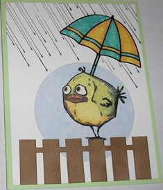 Rainy Day Bird by Nan Cee's - Cards and Paper Crafts at Splitcoaststampers