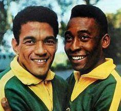 Brazilian soccer legends Garrincha and Pelé
