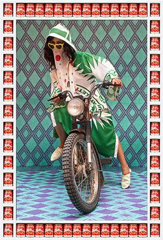'Kesh Angels is a photo series that captures the vibrant street culture of Morocco and pays tribute to the biker culture of the young women of Marrakesh. Pop Art, Andy Warhol, Motorbikes Women, Bike Gang, Kitsch, Motorbike Girl, Motorcycle Girls, Girl Bike, Motorcycle Style
