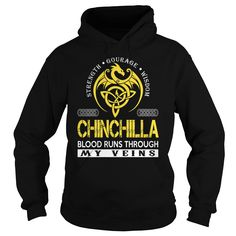 CHINCHILLA Blood Runs Through My Veins (Dragon) - Last Name, Surname T-Shirt