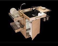 """""""The Mini Me kitchen"""", cusine compacte pour célibataire, par le designer Amr Helmy"""