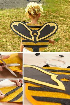 ¡A volar como una abeja! Puedes hacer tu propio disfraz DIY con goma eva de una manera muy sencilla. ¡Manualidades para carnaval!