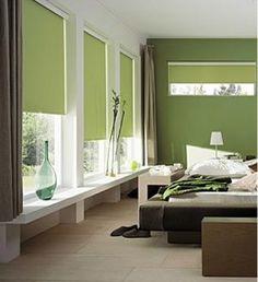 decoration-chambre-harmonie-couleurs-peinture-vert-sauge-vert-olive-meuble-wenge