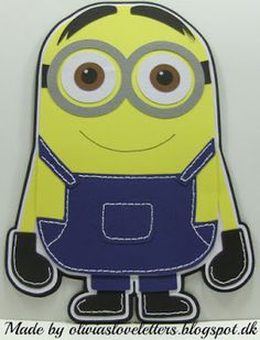 Has basic instructions, but, if youcandras more than a stickman, make a template and create away on your Minion! Minion Birthday Card, Birthday Cards, Disney Cards, Cool Cards, Minions, Library Ideas, Free Printables, How To Make, Handmade