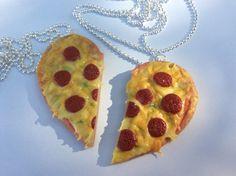Food jewerly/handmade Miniature pepperoni pizza/ by CraftyFelix
