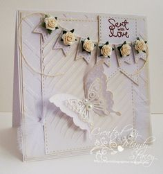 Gorgeous card by Mandy for the Simon Says stamp Wednesday challenge (A Little Bit of Texture)