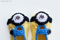 Need to adjust yarn and hook Minion Inspired Baby Bootied - Free Crochet Pattern