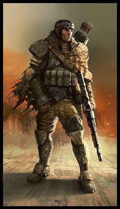 Daryl Mandrayk Turok 2 Desert/Outback Turok w/ OrO Perforator-Bow & Assault-Rifle.