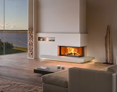 Modern Fireplace Design For Cozy Living Room Home Fireplace, Modern Fireplace, Living Room With Fireplace, Cozy Living Rooms, Fireplace Design, Home And Living, Corner Fireplaces, Room Interior, Home Interior Design