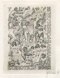 Exlibris by Eugen Schmidt (D) for I. Forsblom (C2)