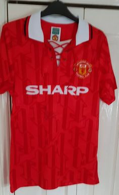 2d3a5b8a0f8 Signed Eric Cantona Manchester United Shirt More info on our footie shirt  blog here 👇 Footballshirtfinder