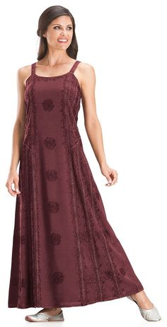 HolyClothing Silvia Floral Embroidered Gothic Victorian Sun Dress ** Want to know more, click on the image.
