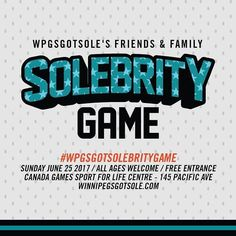 """To celebrate 5 years of the Winnipeg Sneaker Swap Expo we're giving back and invited past and present vendors volunteers barbers performer's friends & family to play a basketball game we like to call the WpgsGotSole's Friends & Family """"SOLEBRITY"""" Game oooh. That's because without their help and support there would be no expo and there would be no shoe donations. They are our all-stars what we like to call """"SOLEBRITIES"""" oooh. The game will be like 2 Harlem Globetrotters facing each other but…"""
