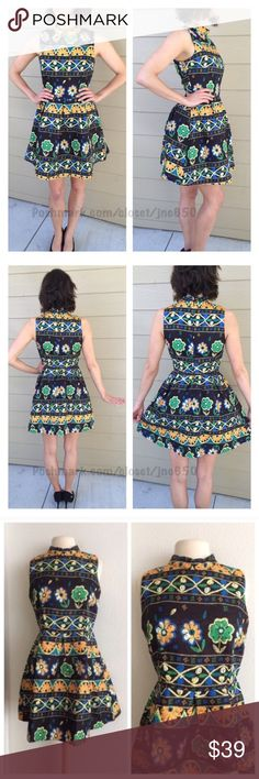 """Floral dress 100% polyester. Fully lined. The top half does not have any stretch to it. Hidden zipper closure. Pattern on each dress varies slightly depending on where the manufacturer cut the fabric. Model is a S/4 and wearing size S. S: L: 34"""" • B: 34"""" M: L: 35"""" • B: 36"""" Availability: S•M • 2•2.                                        ⭐️This item is brand new with manufacturers tags, boutique tags, or in original packaging. NO TRADES Price is firm unless bundled Ask about bundle discounts…"""