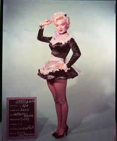 Marilyn in a costume test for There's no Business like Show Business, 1954.