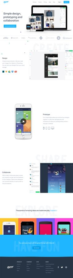Marvel landing page design inspiration - Lapa Ninja Design Process, Tool Design, App Design, Best Landing Page Design, Website Header, Web Design Projects, Scale Design, Web Design Inspiration, Website Template