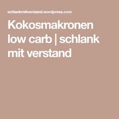 Kokosmakronen low carb | schlank mit verstand