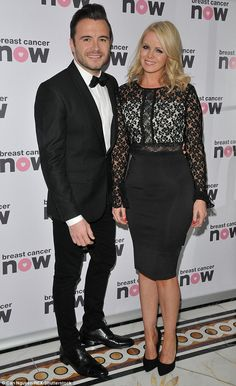 Cute couple: Shane Filan and his wife Gillian Walsh made a glamorous duo...
