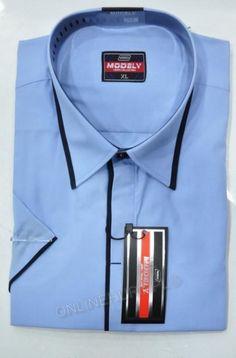 Koszula Męska Modely TRON-70-A-CT  Kr. Rękaw (S-2XL)