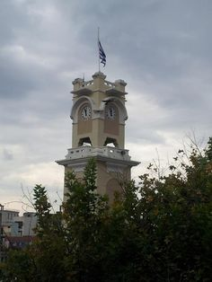 The clock tower @ cenrtal square, Xanthi. Into The West, Our Town, Macedonia, Statue Of Liberty, Clocks, Greece, Old Things, Tower, City