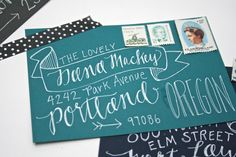 Custom Envelope Addressing - The Avery. $2.25, via Etsy.