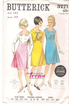1960's dress pattern- all girls were required to take sewing in Home Economics