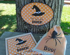 BOO!- Free Boo Signs from Bloom Designs