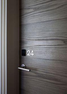 Simple Door Numbers   Love the wood
