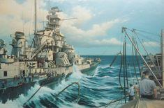 ww ii warship art | Massachusetts - C.A. de Vries
