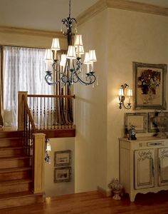 Veranda 9 Light Chandelier With Antiqued Ivory Candles