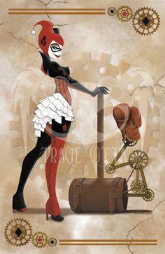 Harley Quinn - Steampunk shared by Sweet on We Heart It Joker Y Harley Quinn, Harley Quinn Cosplay, Batman, Der Joker, Harely Quinn, Hq Dc, Gotham Girls, Mundo Comic, Comics Girls