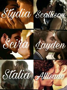 Teen Wolf ships- Stydia, Scallison, Scira, Layden, Stalia, Allisaac