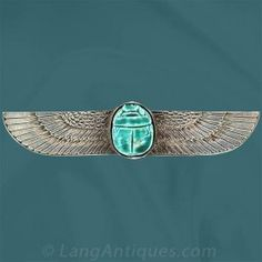 Ancient Egyptian Scarab Pin - Vintage Jewelry