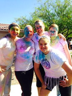 Personal Progress Value Fun Run! Each value had a station with a corresponding color, poster with scripture and quote on it! The girls (and leaders) had such a great time!