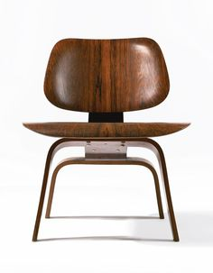 Ray and Charles Eames, LCW – Lounge Chair Wood, 1950s. Rosewood plywood. Made by Herman Miller, USA.
