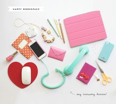 Candy-colored clutter (Accessory Heaven » Eat Drink Chic) Lookie, @Katsu Modomo!