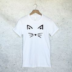 Funny Cat Shirt Face Tee - Crazy Cat Lady - Cat Shirts - Kitten Shirt - Cat Lover - Meow Shirt - Cat T Shirt - Tank Top - Gift For Cat by WildHeartsUSA on Etsy https://www.etsy.com/listing/290443561/funny-cat-shirt-face-tee-crazy-cat-lady