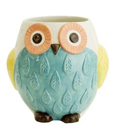 Look at this Floral Owl Utensil Holder on #zulily today!