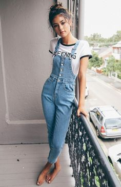 Best spring outfits with overalls 122