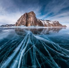 Baikal Lake Ice by Daniel Korzhonov