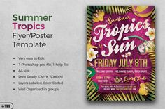 Summer Tropics Flyer Template | The Hungry JPEG