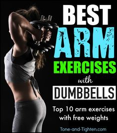 10 of the best dumbbell exercises to tone and tighten your arms