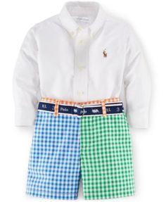 Ralph Lauren Baby Boys' Button-Up & Colorblocked Shorts Set