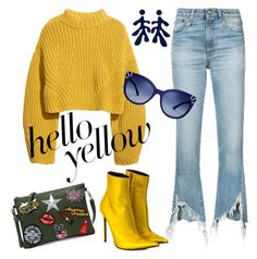 Designer Clothes, Shoes & Bags for Women Modern Clothing, Beatnik, Haider Ackermann, Modern Outfits, Polyvore Fashion, Tory Burch, Love You, Shoe Bag, Yellow