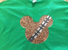Disney Star Wars Wookie Mickey Head Shirt, Chewbacca Mickey Shirt by ATime4EverythingShop on Etsy https://www.etsy.com/listing/293585511/disney-star-wars-wookie-mickey-head