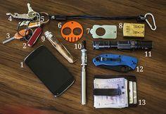 September 2013 EDC Pocket Dump   More Than Just Surviving   Survival Blog   Preppers & Survivalists   Gear & Knives