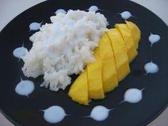 Modern Thai Food: Sticky rice with mango